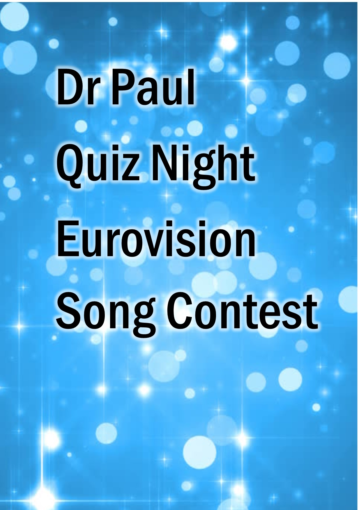 Eurovision Quiz - Download and Print