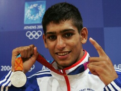 Amir Khan with silver  medal in Olympics
