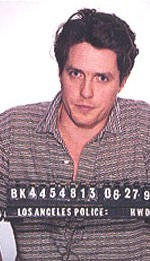 Hugh Grant after being  arrested for having sex with a prostitute in LA in 1995