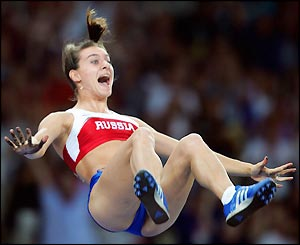 Pole Vaulting (first  woman to clear 5.01m)