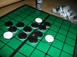 "Othello  (also known to Americans as ""Reversi"")"