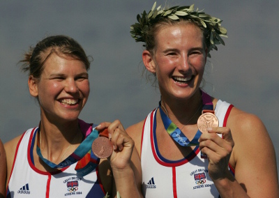 Rowing  (full names Sarah Winckless and EliseLaverick) (precise event was women's  double sculls)